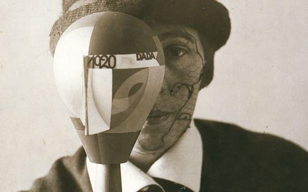 Nic Aluf, Portrait of Sophie Taeuber with her Dada Head, 1920. Gelatin silver print, 20.9 × 16.6 cm. Galerie Berinson, Berlin © 2016 Artists Rights Society (ARS), New York/VG Bild-Kunst, Bonn