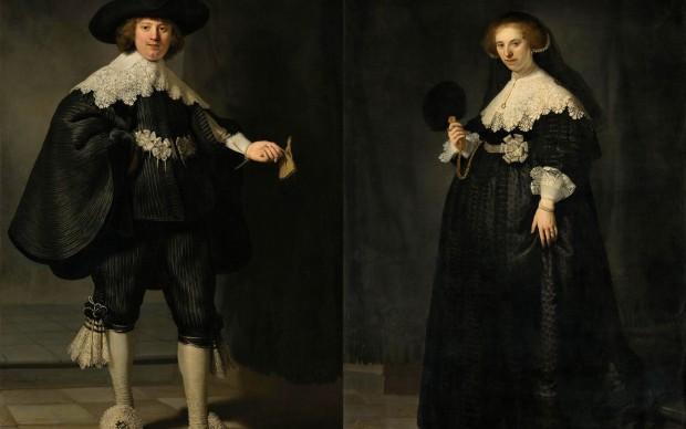 Rembrandt van Rijn, I coniugi Marten Soolmans e Oopjen Coppit, 1634, Rijksmuseum Collection-Musée du Louvre Collection, 2016