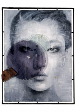 Vitaliano, Wa 04.016, 2016, pittura e materiali integrati, 170x158 cm