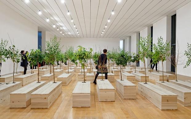 Yoko Ono – Lumière de l'aube – installation view at MAC, Lione 2016 – photo Blaise Adilon