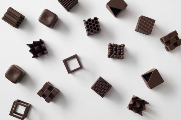 Nendo, Chocolatexture, photo credit: Akihiro Yoshida
