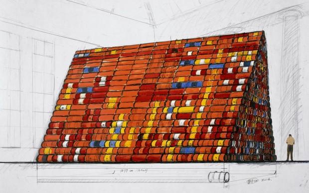 Christo, Disegno preparatorio per Mastaba