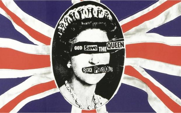 jamie reid god save the queen cover album sex pistols