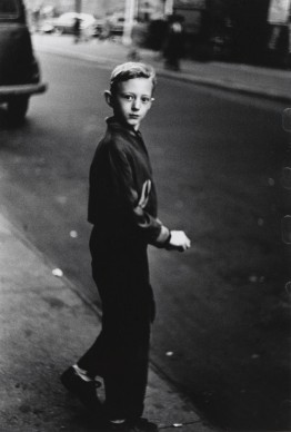Diane Arbus, Boy stepping off the curb, N.Y.C. 1957–58 © The Estate of Diane Arbus, LLC. All Rights Reserved