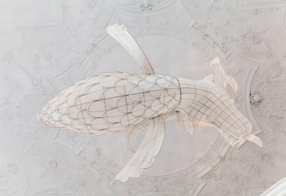 Ai Weiwei, Lu, 2015, bamboo and silk, 470x250x195 cm, (c) Ai Weiwei Studio, photo (c) Belvedere, Vienna
