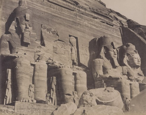 Antonio Beato, Great Temple, Abu Simbel 1865. Vintage print, 20.7 x 26.2 cm © Courtesy Galerie Johannes Faber, Vienna