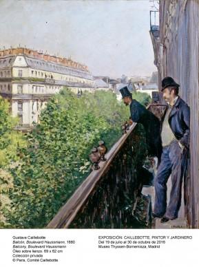 Gustave Caillebotte,  Un balcon, boulevard Haussmann, 1880 © Paris, Comité Caillebotte