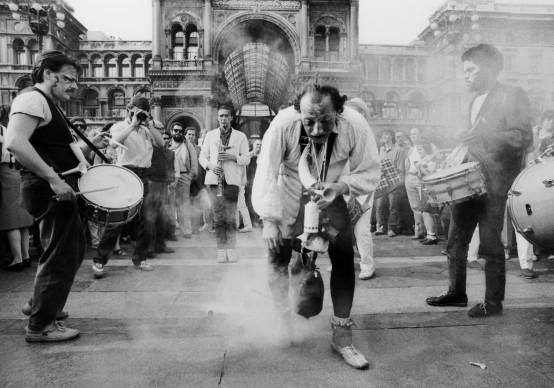 Compagnie Lubat, Piazza Duomo, Milano © Silvia Lelli e Roberto Masotti