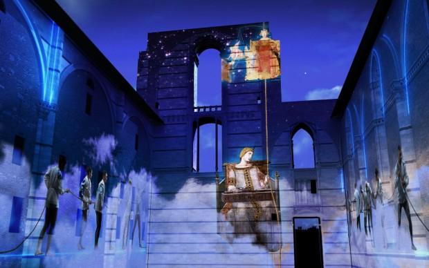 divina bellezza dreaming siena videomapping 3D