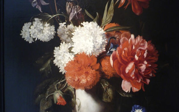 Dirck de Bray Flowers in a White Stone Vase, 1671 Oil on panel 62 × 44 cm Private collection © Photo courtesy of the owner