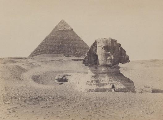 Frank Mason Good, Great Sphinx, Giza 1869. Vintage print, 15.9 x 21 cm © Courtesy Galerie Johannes Faber, Vienna