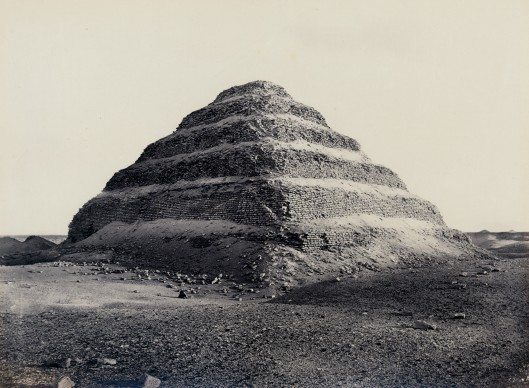 Frank Mason Good, Step Pyramid, Saqqara 1869. Vintage print, 15.5 x 20.7 cm © Courtesy Galerie Johannes Faber, Vienna
