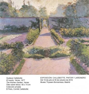 Gustave Caillebotte,  Le Jardin potager, Yerres, 1877 © Paris, Comité Caillebotte