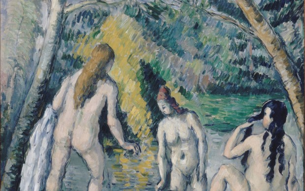 Paul Cézanne Three Bathers, 1879-1882 Oil on canvas 55 × 52 cm Petit Palais, Musée des Beaux-Arts de la Ville de Paris © Petit Palais / Roger-Viollet