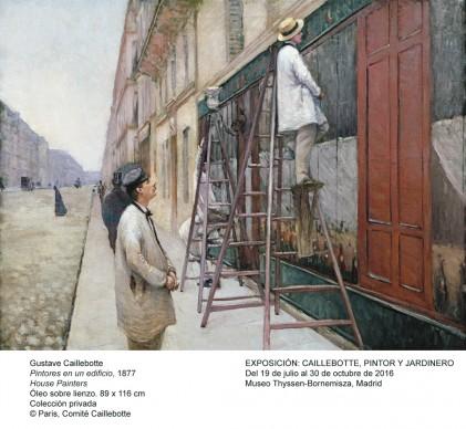 Gustave Caillebotte,   Les Peintres en bâtiment, 1877