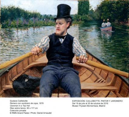 Gustave Caillebotte,  Canotier au chapeau haut de forme, 1877-1878