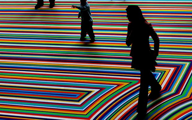 ZOBOP!, Jim Lambie, MoMA, New York. Photo by Jay Gorman, fonte Flickr