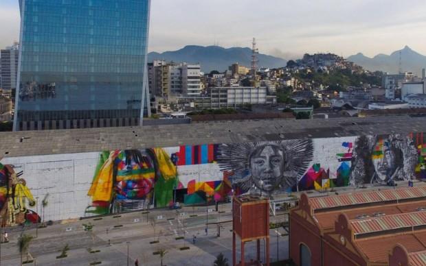 eduardo kobra street artist murale olimpiadi rio 2016
