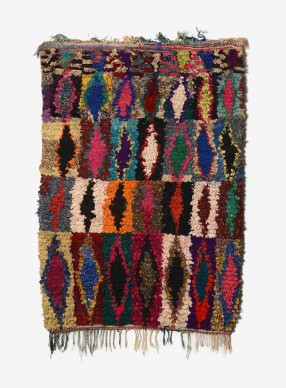 Zahra Bouychou, Aferdou, tappeto Boucharouette, 2000-2009, photo ©Rémi Boissau - Ville de Clermont-Ferrand