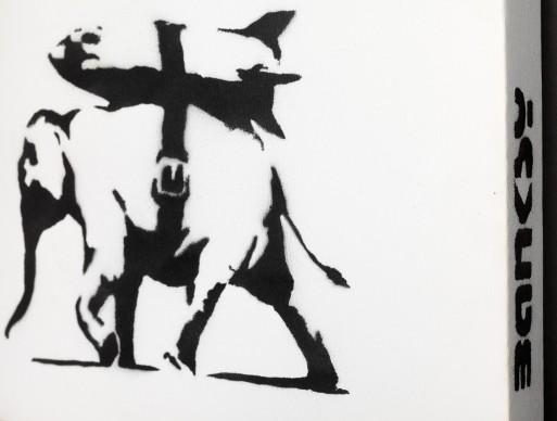 Banksy, Heavy Weaponry, 2004. Photo by Dario Lasagni