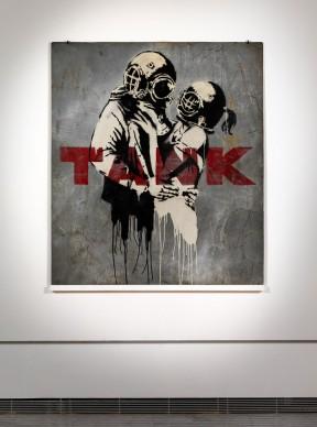 Banksy, Think Tank, 2003. Photo by Dario Lasagni