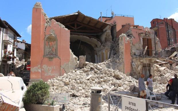Chiesa di San Giovanni AMATRICE-Foto Carabinieri Tutela Patrimonio Culturale