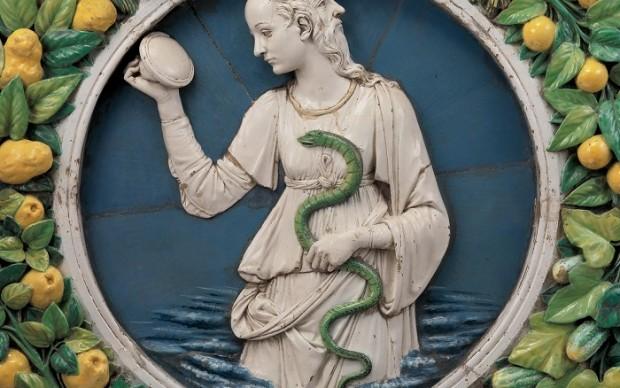 Della-Robbia-terracotta policroma invetriata mostra Museum-of-Fine-Arts-Boston