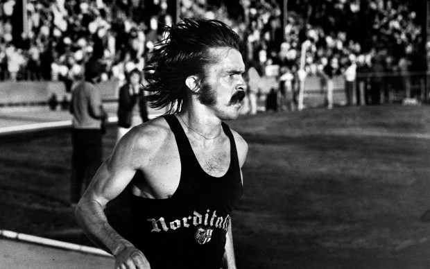 Steve Prefontaine during his last run, the 5,000 meter race at Hayward Field on May 30, 1975. (Wayne Eastburn/The Register-Guard) Free to Run documentario