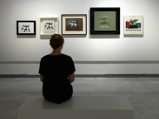 Guerra, Capitalismo & Libertà, installation view della mostra dedicata a Banksy a Palazzo Cipolla, Roma. Photo by Dario Lasagni