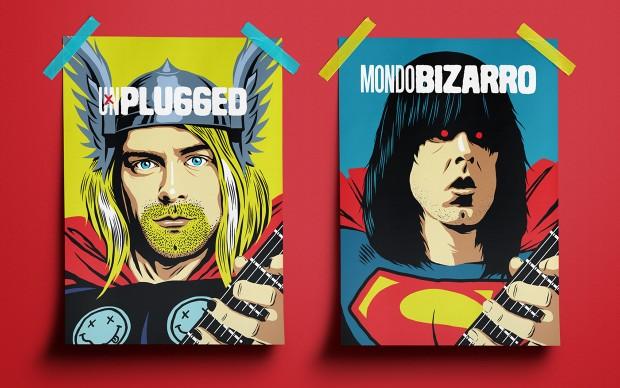 butcher billy guitar heroes illustrazione fumetti rockstar supereroi