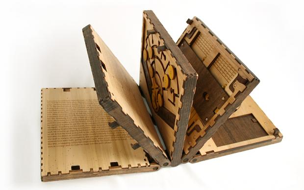 codex silenda libro-puzzle legno crowdfunding kickstarter