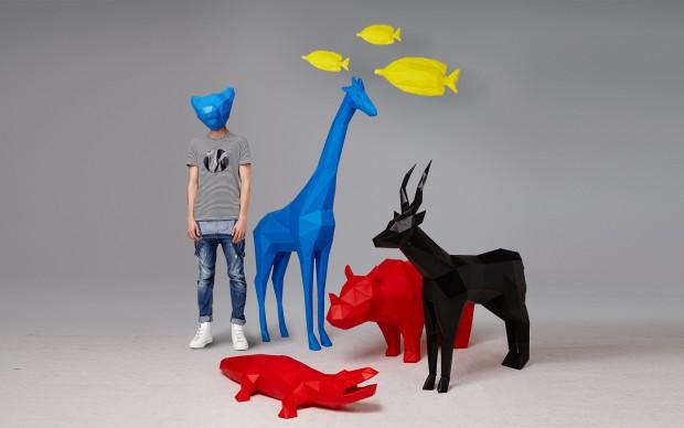 Folding Pets Big Animals, design di Pellegrino Cucciniello