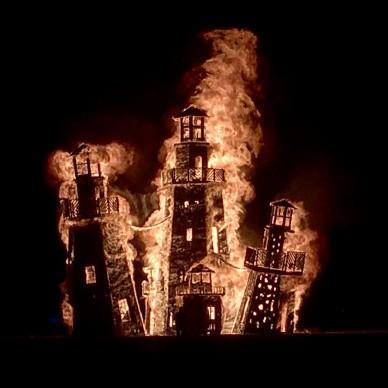 Burning Man 2016, fonte Instagram, photo by  brlighthouseservice