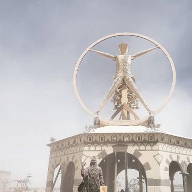 Burning Man 2016, fonte Instagram, photo by toomanyomars