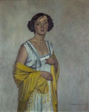 Felix Vallotton, Ritratto di signora con scialle giallo, 1909, olio su tela, Aargauer Kunsthaus