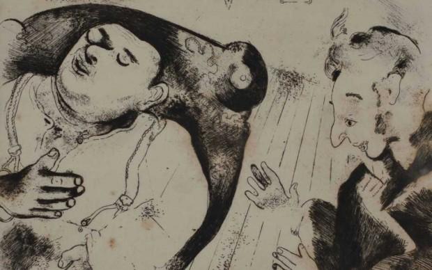 Marc-Chagall illustrazione incisione Anime Morte di Nikolai-Gogol