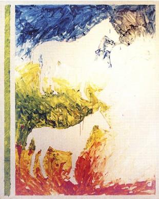 Mario Schifano, Senza titolo, 1979-1980, smalto su tela, 190x160 cm