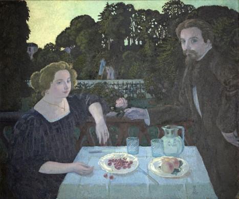 Maurice Denis, Le Dessert dans le jardin, 1897, Olio su tela, Saint-Germain en-Laye, Musèe Maurice Denis