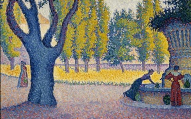Paul Signac, Saint Tropez. Fontaine des Lices_1895