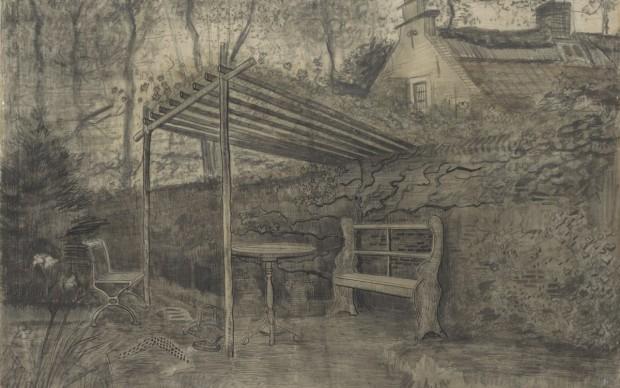 Vincent Van Gogh, Corner of a garden, June 1881