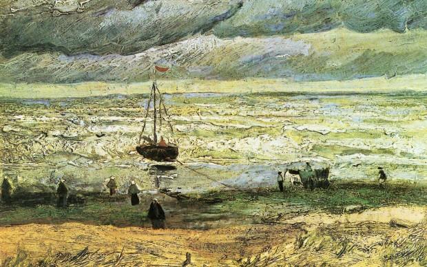 Vincent Van Gogh La spiaggia di Scheveningen prima di una tempesta 1882