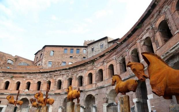 gustavo aceves lapidarium roma mercati traiano colosseo