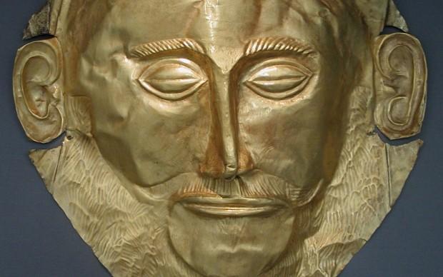 Maschera di Agamennone, scoperta da Heinrich Schliemann nel 1876 a Micene