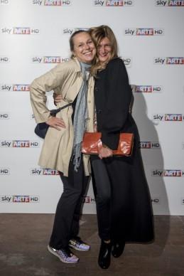 Cornelia Lauf e Paola Potena all'anteprima del docufilm 'William Kentridge, Triumphs and Laments', tenutasi presso il MAXXI di Roma la sera del 22 ottobre. (Photo by Pizzi/Mazzarella)