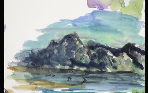 Per Kirkeby, Senza titolo (Groenlandia), 2011 gouache su carta, 21 x 28 cm Co urtesy Bo Bjerggaard Galleri, Copenaghen