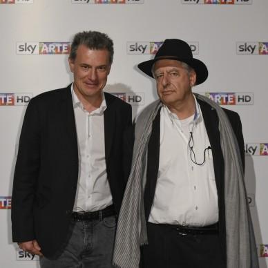 Roberto Pisoni e William Kentridge all'anteprima del docufilm 'William Kentridge, Triumphs and Laments', tenutasi presso il MAXXI di Roma la sera del 22 ottobre. (Photo by Pizzi/Mazzarella)
