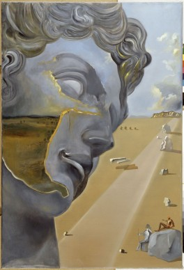 Salvador Dalí, Sin título. Giuliano de Médici según la tumba de Giuliano de Médici de Miguel Ángel, 1982 circa, olio su tela, 140 x 95 x 2 cm. ©Salvador Dalí, Fundació Gala-Salvador Dalí by SIAE 2016