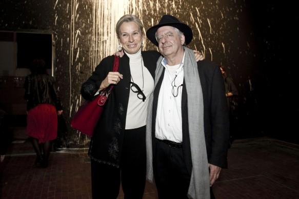 Giovanna Melandri e William Kentridge all'anteprima del docufilm 'William Kentridge, Triumphs and Laments', tenutasi presso il MAXXI di Roma la sera del 22 ottobre. (Photo by Pizzi/Mazzarella)