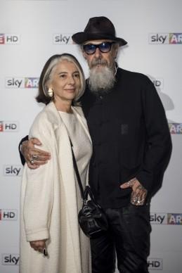 Roberto D'Agostino e Anna Federici all'anteprima del docufilm 'William Kentridge, Triumphs and Laments', tenutasi presso il MAXXI di Roma la sera del 22 ottobre. (Photo by Pizzi/Mazzarella)