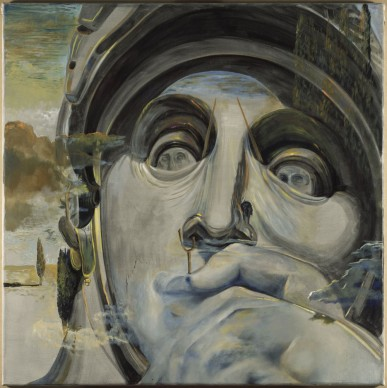 """Salvador Dalí, """"El guerrero"""" o """"Los Embozados"""". Lorenzo de Médici según la tumba de Lorenzo de Médici de Miguel Ángel, 1982 circa, olio su tela, 99,80 x 100 cm. ©Salvador Dalí, Fundació Gala-Salvador Dalí by SIAE 2016"""
